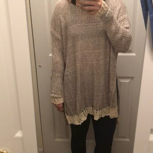 Long Free People sweater